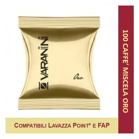 MIXTURE GOLD - 100 CAPSULES COMPATIBLE LAVAZZA POINT VARANINI