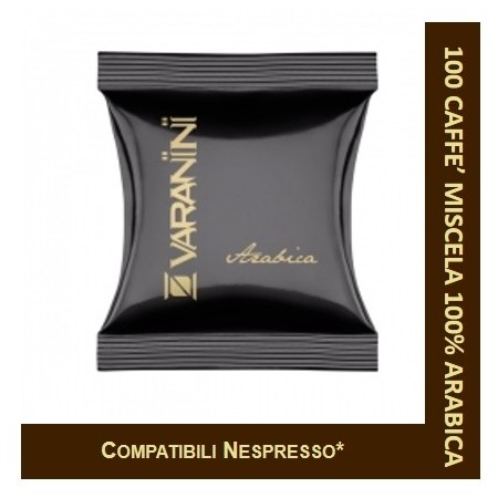 100% ARABICA - 100 CAPSULES COMPATIBLE NESPRESSO VARANINI