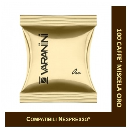 MIXTURE GOLD - 100 CAPSULES COMPATIBLE NESPRESSO VARANINI