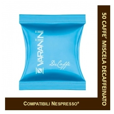 DECAFFEINATED COFFEE - 50 NESPRESSO-COMPATIBLE CAPSULE VARANINI
