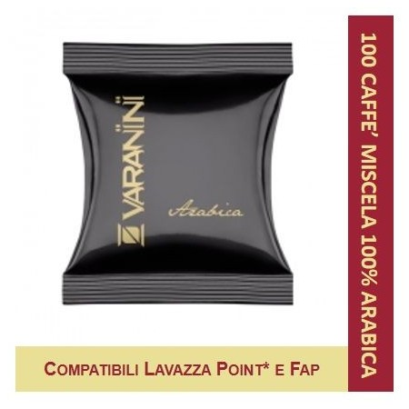 100% ARABICA - 100 CAPSULES COMPATIBLE LAVAZZA POINT VARANINI